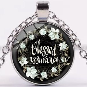Necklace- NEW- Christian- Blessed Assurance